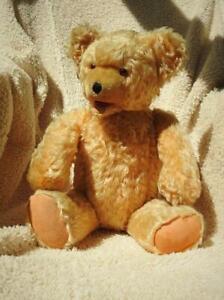 "FECHTER AUSTRIA SUPERB VINTAGE 1950s 20"" (51cm) JOINTED GOLDEN MOHAIR TEDDY BEAR"