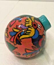 Talavera Christmas Ornament Mexican Ceramic Folk Art Pottery