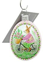 New ListingPatricia Breen Petit Egg To The Marche Bunny Pink Jeweled Spring Easter Egg
