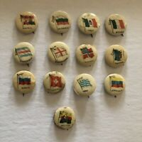 1896 Sweet Caporal Cigarette Pinback Buttons Countries - U Pick 5 for $15