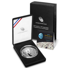 2019-P Proof Apollo 11 50th Anniversary 5 Oz Silver Coin Complete BOX & COA