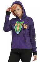 DC Comics Harley Quinn Joker Cosplay Reversible Zip Hoodie Size Medium