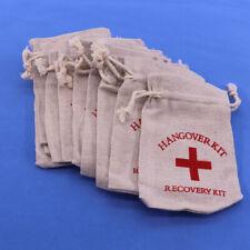 10x Cotton Favor Recovery Hangover Kit Aid Survival Bags Bachelorette Party