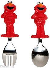 Munchkin Sesame Street Elmo Toddler Fork and Spoon feeding Kids BPA Free