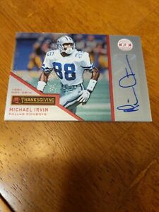 2013 Certified Michael Irvin Thanksgiving Auto /49 Cowboys