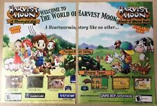 Harvest Moon Poster Ad Print Gamecube Game Boy Advance Natsume