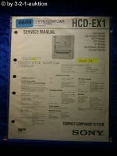 Sony Service Manual HCD EX1 Component System (#6669)