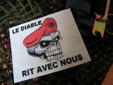 SNAKE PATCH - LE DIABLE RIT AVEC NOUS - PARA TAP RPIMa parachutiste AMARANTE