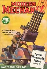 1938 Modern Mechanix April-How to train your dog; War on cancer; Camera tricks