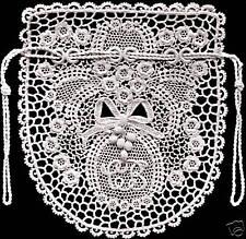 Vintage Antique Crochet PATTERN to make Irish Rose and Fern Opera Bag 1900s