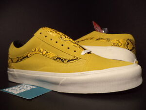 Vans OLD SKOOL Low YOTS YEAR OF THE SNAKE LEMON YELLOW WHITE RED VN-0SDI8EU 12
