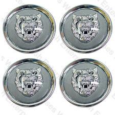 Jaguar Wheel Badge Set - Center Cap - Wheel Motif - 1988-2012 - Gray/Silver