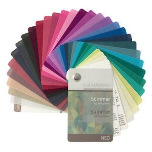 """Stoff-Farbpass, 30 Farben, Sommer """"Neo"""" zur Farbberatung - Farbfächer Sommertyp"""