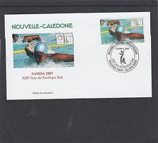 New Caledonia 2007 Pacific Games Swimming First Day Cover FDC Noumea pict h/s