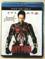 Antman (3D Bluray) No Regular Bluray No DMA Code No Slipcover Ant Man