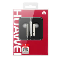 NEW HUAWEI IN-EARPHONES WITH REMOTE CONTROL AND MICROPHONE - SILVER WHITE