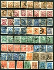 Ecuador- Large lot with many duplicates (5 pages)  For varieties , cancellations