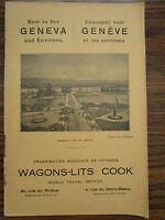 Wagons Lits Auto Train Railway Travel Excursions GENEVA GENÈVE Switzerland 1933