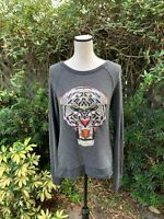 Signorelli Women's Size S Gray Bright Tiger Open Back Lightweight Sweater