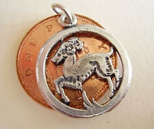 BEAUTIFUL ' ARIES ' SOLID STERLING SILVER ZODIAC CHARM
