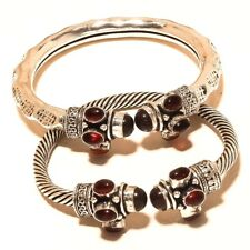 Amethyst Free Shipping Lot 2p Cuff Silver Plated Gemstone Jewellery Wp814