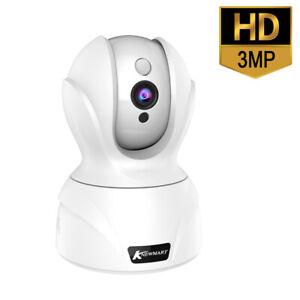 HD 3MP Wifi Security Surveillance CCTV IR-CUT Night Vision Dual Audio IP Camera