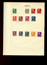 Norway Album Page Of Stamps #V5276