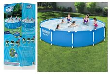 12FT New Metal Frame Portable Swimming Pool Above Ground Backyard & Filter Pump