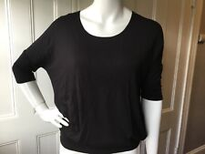 Agnes And Dora Shirt Top Blouse T SHIRT BLACK dolman CREW Neck XS NWT!