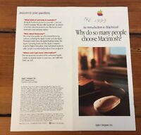 Vintage 1993 Apple Computer Introduction To Macintosh Brochure Product Guide