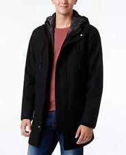 American Rag Hooded Parka Jacket Black Mens Size Large New $140