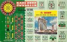 "LAS VEGAS NV MINT HOTEL/CASINO  ""GAMING GUIDE FOR ROULETTE"" CHROME 1961 P/C"