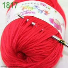 Sale New 1 ball x50gr Cashmere Silk Velvet Baby Children Hand Knitting Yarn 17