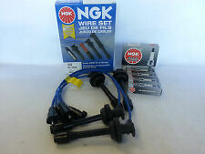 "1997-1999 Toyota Corolla NGK Ignition 4x BKR5E11 Spark Plug + Wire Set ""TE64"""