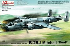 "AZ MODELS 1/72 PLASTIC MODEL KIT B-25J MITCHELL ""RAAF"" AZM7582"