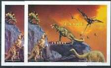 [316233] Zaire 1996 Dinosaurs 2x good sheet Perf + Imperf very fine MNH
