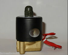 "New Brass Electric Solenoid Valve Water Air N/C 24V DC 1/4"" 2W-08"