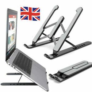 Adjustable Laptop Stand Folding Portable Desktop Holder Office Support UK