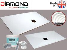 Wet Room Shower Tray Kit Diamond D12 1300x800 Complete Wetroom Base Wet Floor