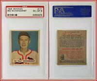 1949 Bowman #111 Red Schoendienst PSA 6 EX-MT Cardinals Baseball HOF