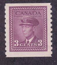Canada 280 MNH 1948 3c KG Vi Coil Perf 9½ Vert Very Fine