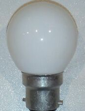 Ampoule sphérique incandescente B22 15W blanche opalisée guirlandes Noël NEUVE