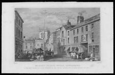 1830 Antique Print Lancashire MANCHESTER Wigan Market Place (96)
