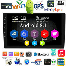"""10.1"""" Android 8.1 Car Stereo GPS Nav MP5 Player Double 2Din WiFi Quad Core Radio"""