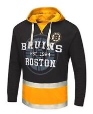 New NWT Boston Bruins L/S Black Flow Hoodie Mens Size M Medium Sweatshirt NHL