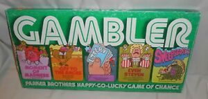 Vintage The Gambler Board Game Parker Brothers 1977 - Complete - Bad Box