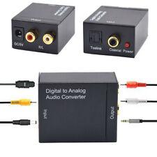 Digital to Analog Audio Converter Optical Fiber Coaxial Signal Stereo 3.5mm Jack