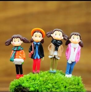 Mini Succulent Fairy Garden Figurines 4X Mei (one Set) About 4CM In Height