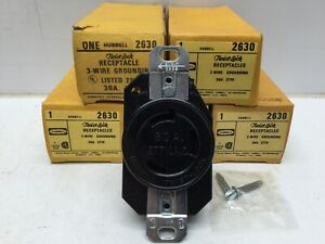 HUBBELL 2630 Twist-Lock Receptacle 3W 30A 277V (Lot of 5)