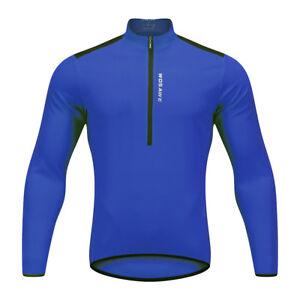 Long Sleeve Cycling Jersey Bike Riding Shirt Mens Breathable Half Zipper Tops
